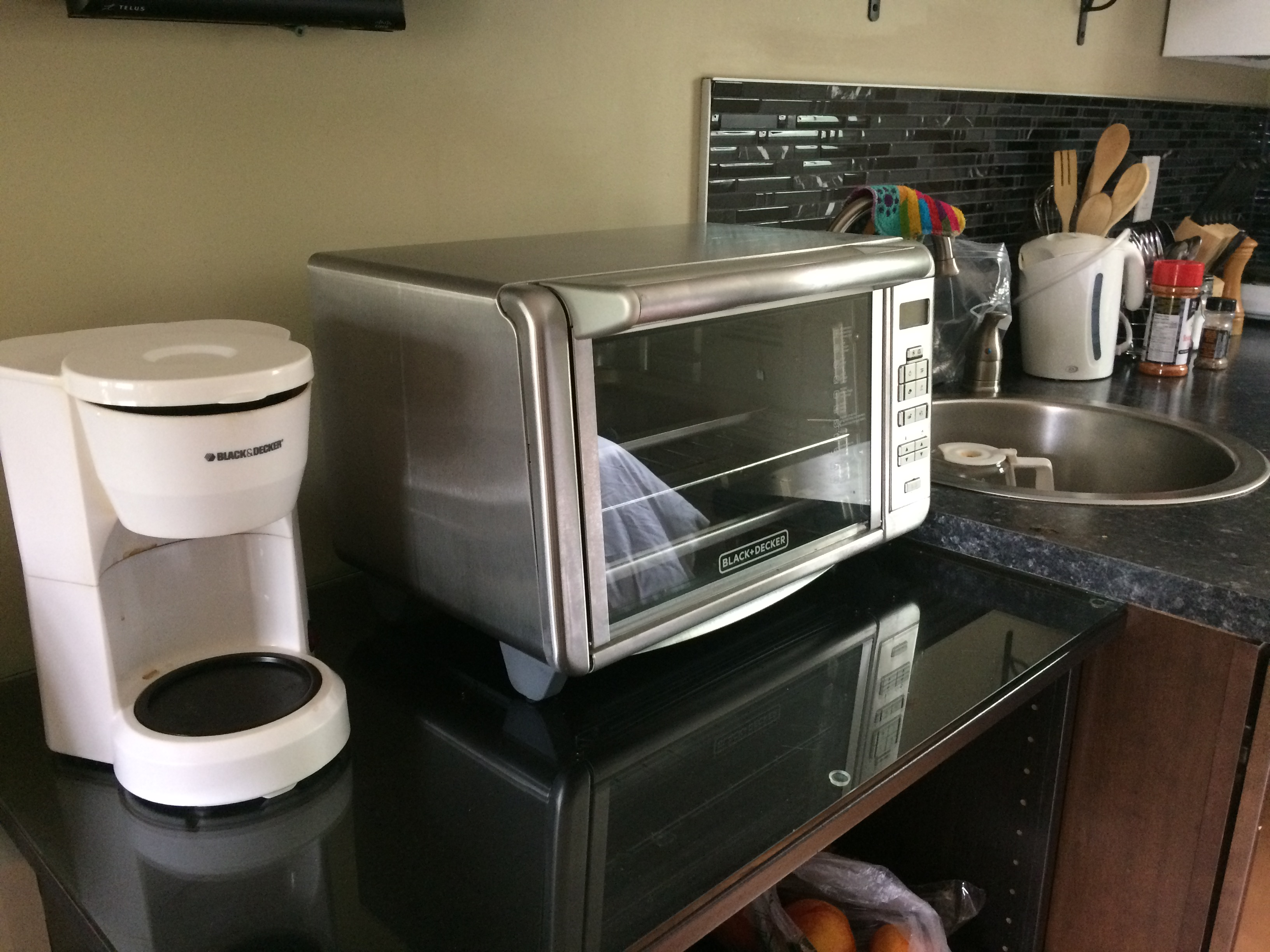 Emmy Cottage toaster over coffee maker